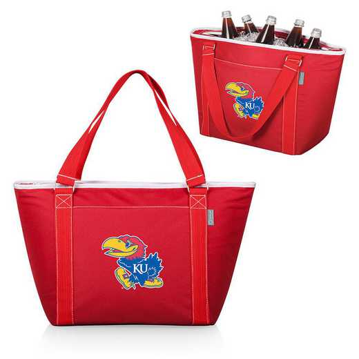 619-00-100-244-0: Kansas Jayhawks - Topanga Cooler Tote (Red)