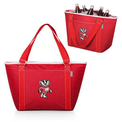 619-00-100-644-0: Wisconsin Badgers - Topanga Cooler Tote (Red)
