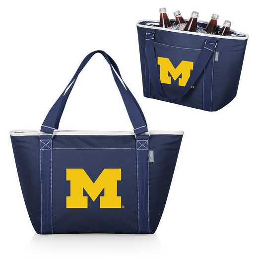 619-00-138-344-0: Michigan Wolverines - Topanga Cooler Tote (Navy)