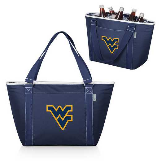 619-00-138-834-0: West Virginia Mountaineers - Topanga Cooler Tote (Navy)