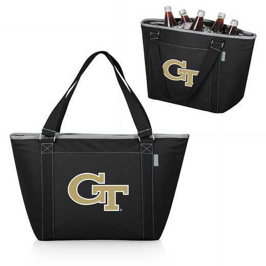 619-00-175-194-0: Georgia Tech Yellow Jackets - Topanga Cooler Tote (Black)
