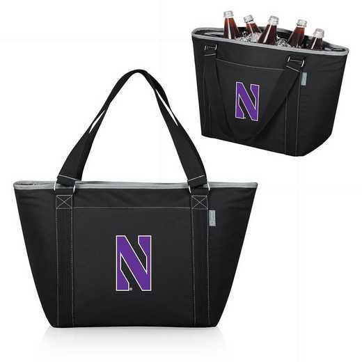 619-00-175-434-0: Northwestern Wildcats - Topanga Cooler Tote (Black)