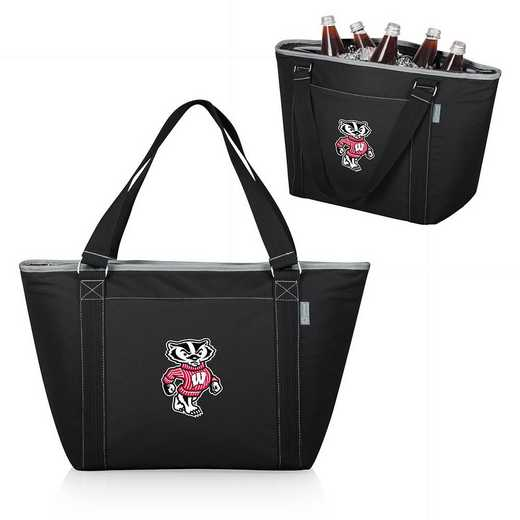 619-00-175-644-0: Wisconsin Badgers - Topanga Cooler Tote (Black)