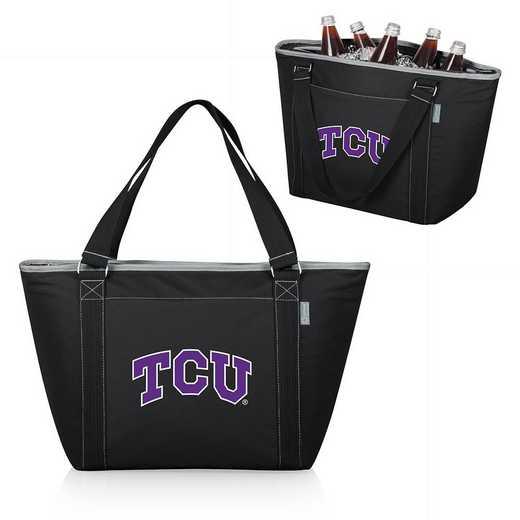 619-00-175-844-0: TCU Horned Frogs - Topanga Cooler Tote (Black)