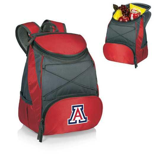 633-00-100-014-0: Arizona Wildcats - PTX Backpack Cooler (Red)