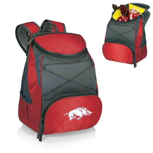 633-00-100-034-0: Arkansas Razorbacks - PTX Backpack Cooler (Red)