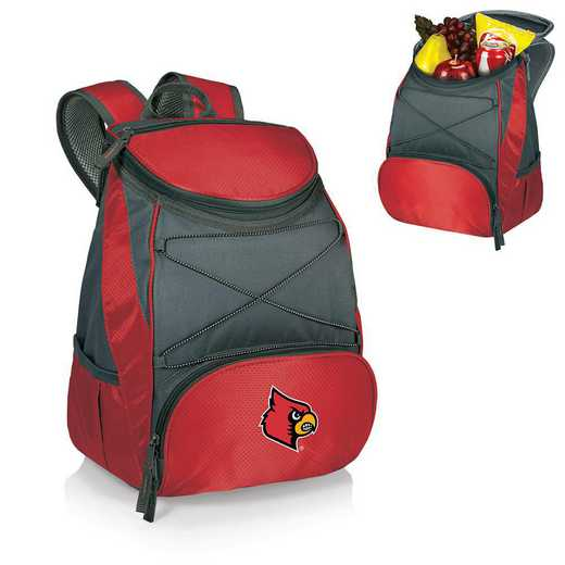 633-00-100-304-0: Louisville Cardinals - PTX Backpack Cooler (Red)