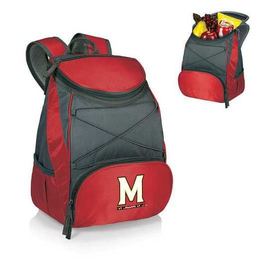 633-00-100-314-0: Maryland Terrapins - PTX Backpack Cooler (Red)