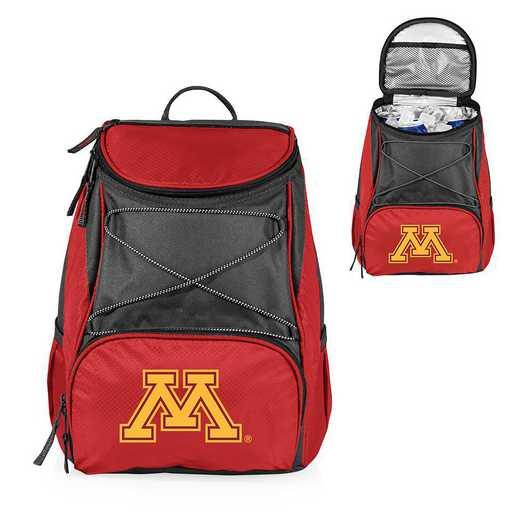 633-00-100-364-0: Minnesota Golden Gophers - PTX Backpack Cooler (Red)
