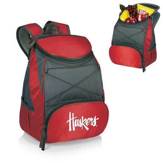 633-00-100-404-0: Nebraska Cornhuskers - PTX Backpack Cooler (Red)