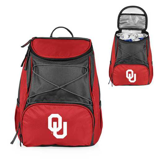 633-00-100-454-0: Oklahoma Sooners - PTX Backpack Cooler (Red)