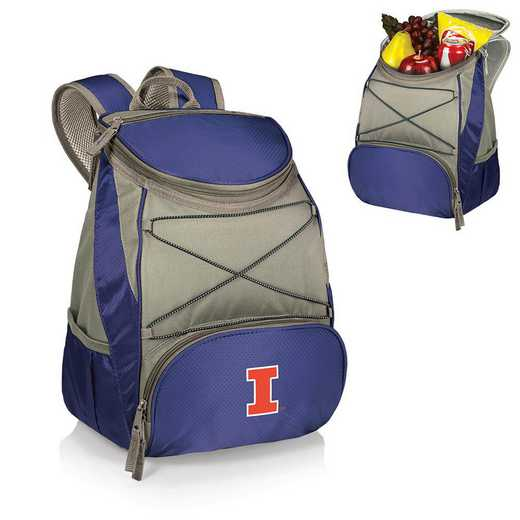 633-00-138-214-0: Illinois Fighting Illini - PTX Backpack Cooler (Navy)
