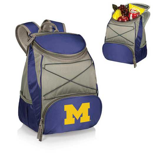 633-00-138-344-0: Michigan Wolverines - PTX Backpack Cooler (Navy)