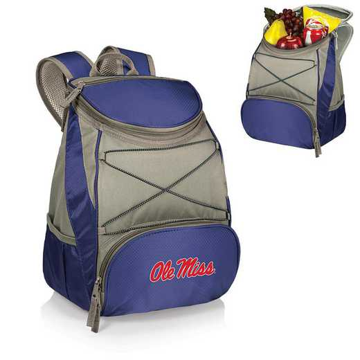 633-00-138-374-0: Ole Miss Rebels - PTX Backpack Cooler (Navy)