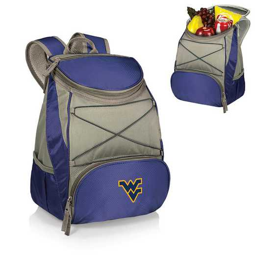 633-00-138-834-0: West Virginia Mountaineers - PTX Backpack Cooler (Navy)