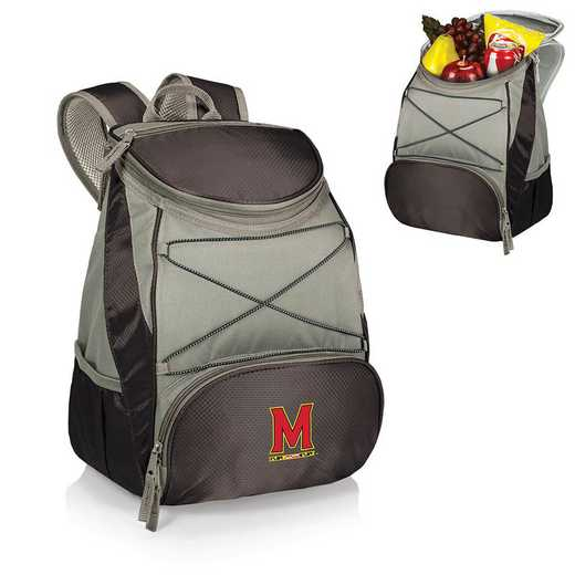 633-00-175-314-0: Maryland Terrapins - PTX Backpack Cooler (Black)