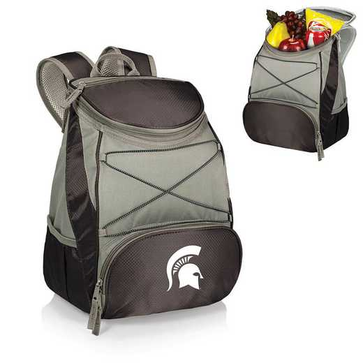 633-00-175-354-0: Michigan State Spartans - PTX Backpack Cooler (Black)