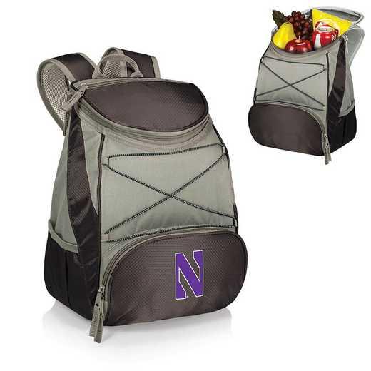 633-00-175-434-0: Northwestern Wildcats - PTX Backpack Cooler (Black)