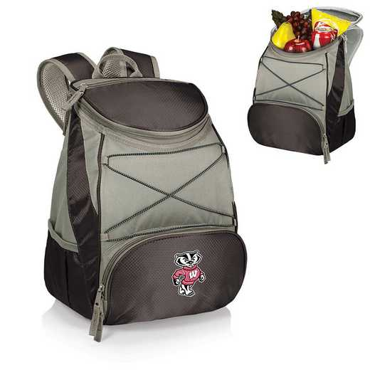 633-00-175-644-0: Wisconsin Badgers - PTX Backpack Cooler (Black)