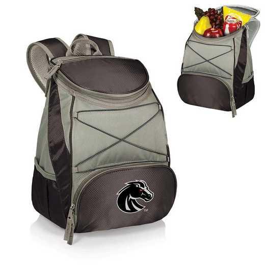 633-00-175-704-0: Boise State Broncos - PTX Backpack Cooler (Black)