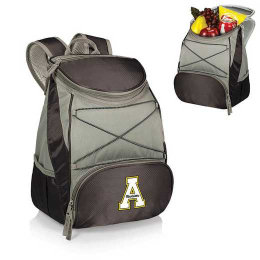 633-00-175-794-0: App State Mountaineers - PTX Backpack Cooler (Black)