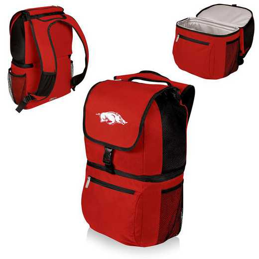 634-00-100-034-0: Arkansas Razorbacks - Zuma Cooler Backpack (Red)