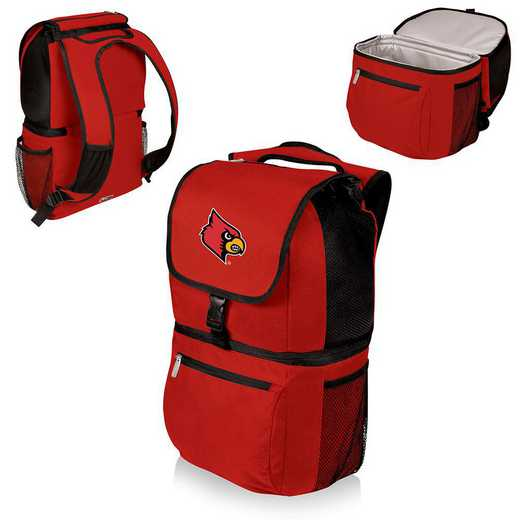 634-00-100-304-0: Louisville Cardinals - Zuma Cooler Backpack (Red)