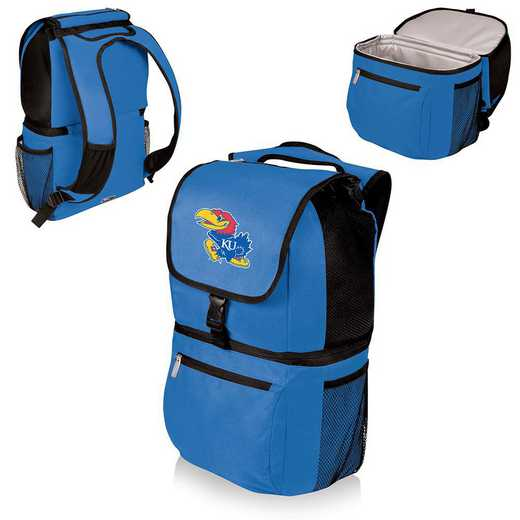 634-00-139-244-0: Kansas Jayhawks - Zuma Cooler Backpack (Blue)