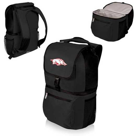 634-00-175-034-0: Arkansas Razorbacks - Zuma Cooler Backpack (Black)