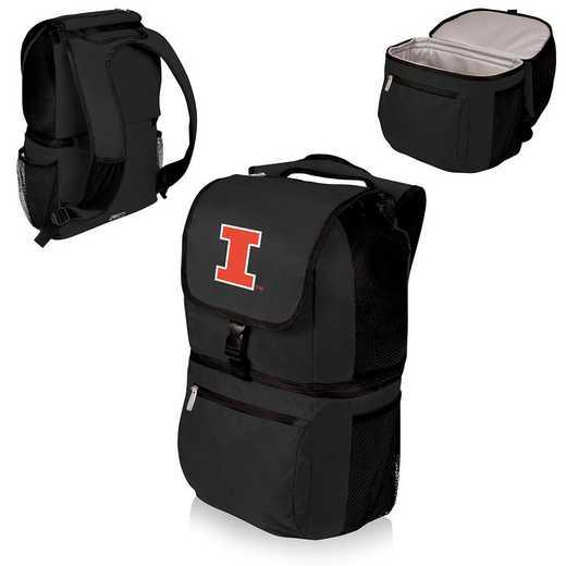634-00-175-214-0: Illinois Fighting Illini - Zuma Cooler Backpack (Black)