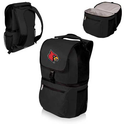 634-00-175-304-0: Louisville Cardinals - Zuma Cooler Backpack (Black)