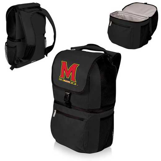 634-00-175-314-0: Maryland Terrapins - Zuma Cooler Backpack (Black)