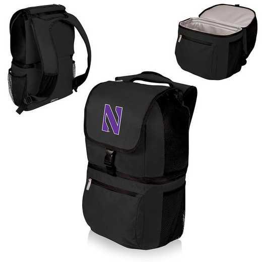 634-00-175-434-0: Northwestern Wildcats - Zuma Cooler Backpack (Black)