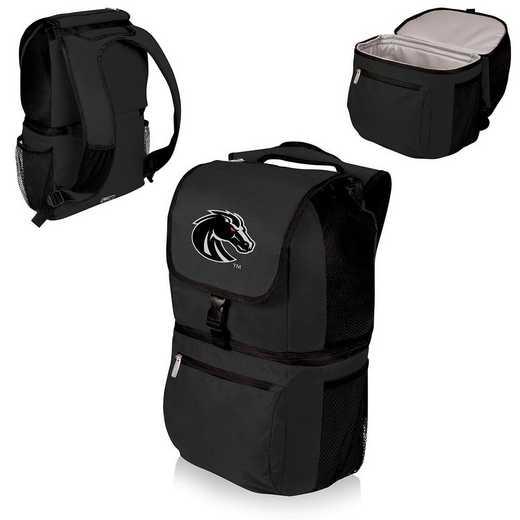 634-00-175-704-0: Boise State Broncos - Zuma Cooler Backpack (Black)