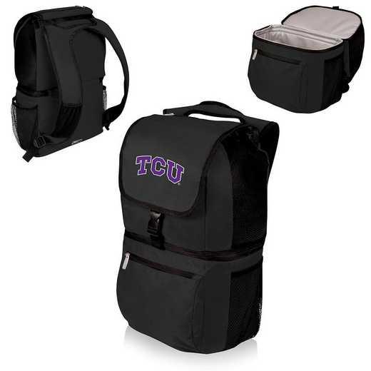 634-00-175-844-0: TCU Horned Frogs - Zuma Cooler Backpack (Black)