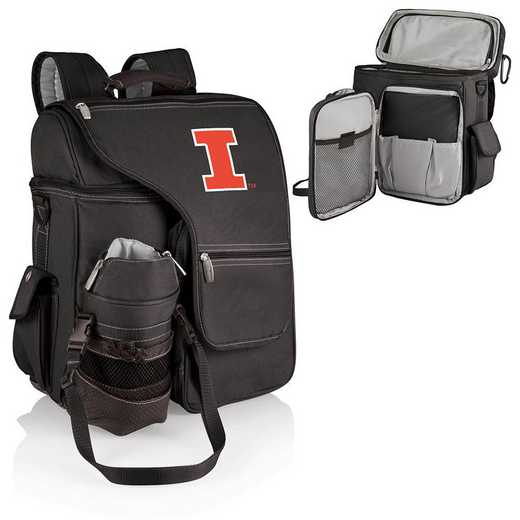 641-00-175-214-0: Illinois Fighting Illini - Turismo Cooler Backpack (Black)
