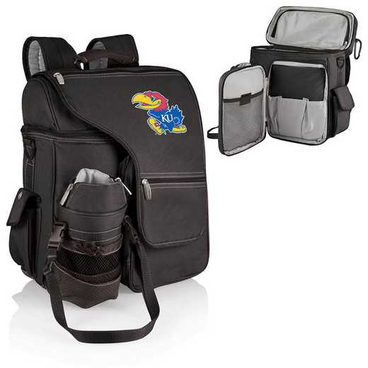 641-00-175-244-0: Kansas Jayhawks - Turismo Cooler Backpack (Black)