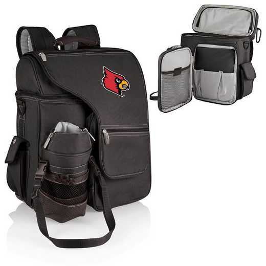 641-00-175-304-0: Louisville Cardinals - Turismo Cooler Backpack (Black)