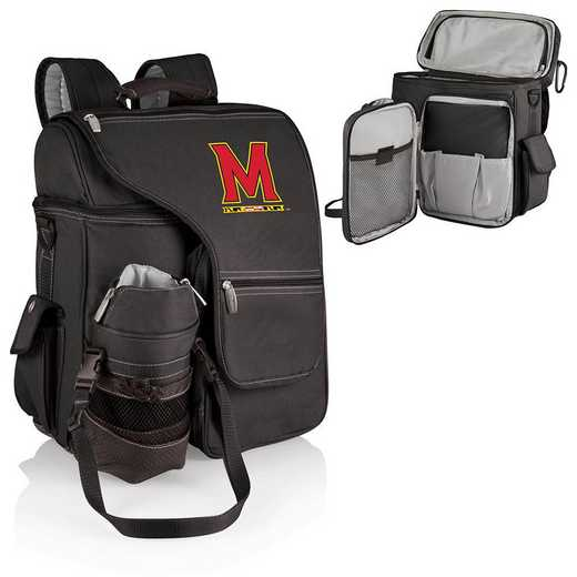 641-00-175-314-0: Maryland Terrapins - Turismo Cooler Backpack (Black)