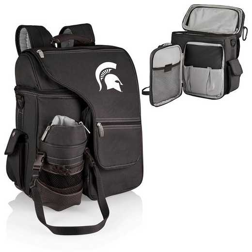641-00-175-354-0: Michigan State Spartans - Turismo Cooler Backpack (Black)