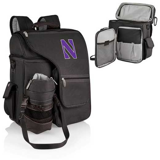 641-00-175-434-0: Northwestern Wildcats - Turismo Cooler Backpack (Black)