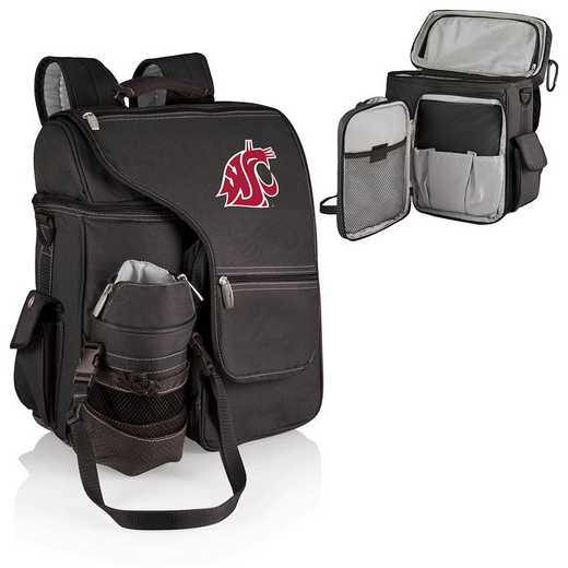 641-00-175-634-0: Washington State Cougars - Turismo Cooler Backpack (Black)