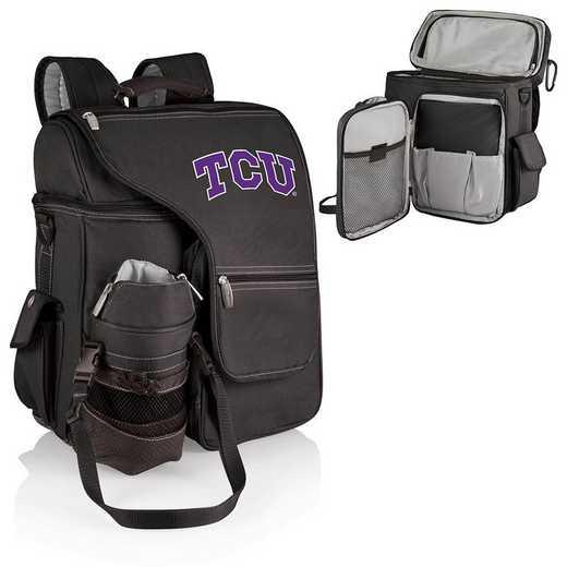 641-00-175-844-0: TCU Horned Frogs - Turismo Cooler Backpack (Black)