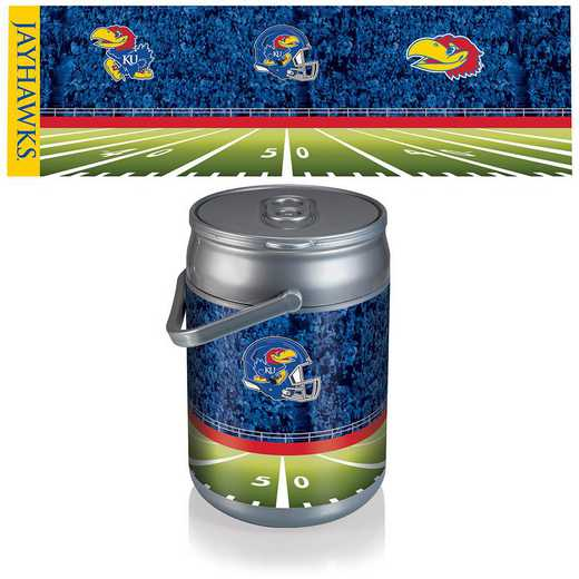 690-00-000-245-0: Kansas Jayhawks - Can Cooler (Football Design)