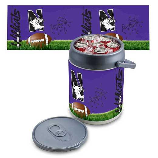 690-00-000-435-0: Northwestern Wildcats - Can Cooler (Football Design)