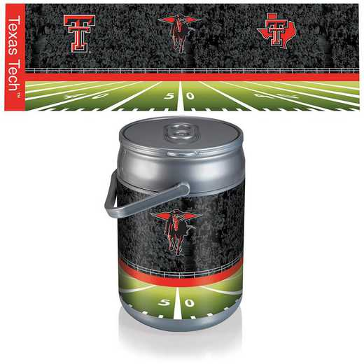 690-00-000-575-0: Texas Tech Red Raiders - Can Cooler (Football Design)