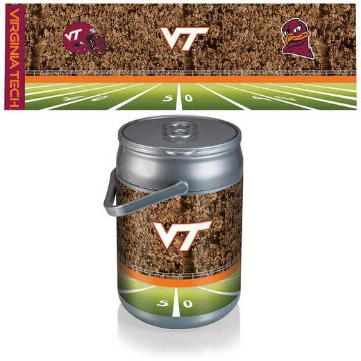690-00-000-605-0: Virginia Tech Hokies - Can Cooler (Football Design)