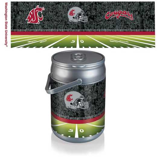690-00-000-635-0: Washington State Cougars - Can Cooler (Football Design)