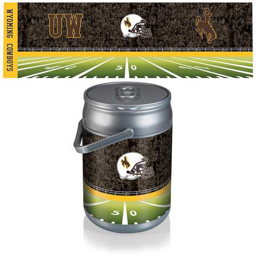 690-00-000-695-0: Wyoming Cowboys - Can Cooler (Football Design)