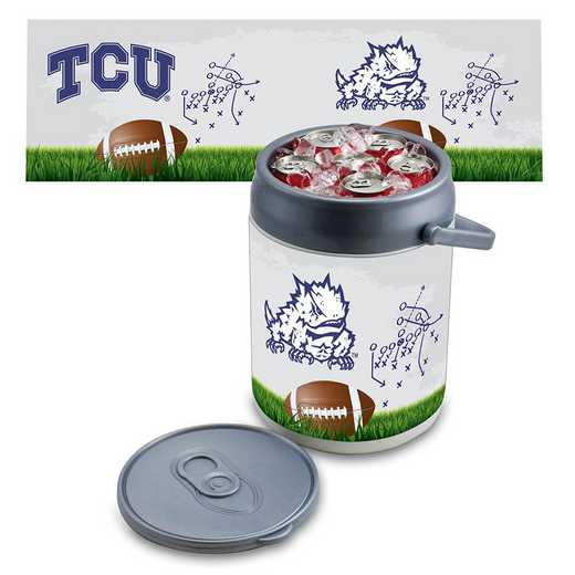 690-00-000-845-0: TCU Horned Frogs - Can Cooler (Football Design)